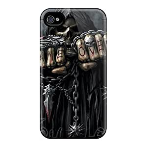 Premium XnpHoCk7803Blgdg Case With Scratch-resistant/ Grim Reaper Case Cover For Iphone 4/4s