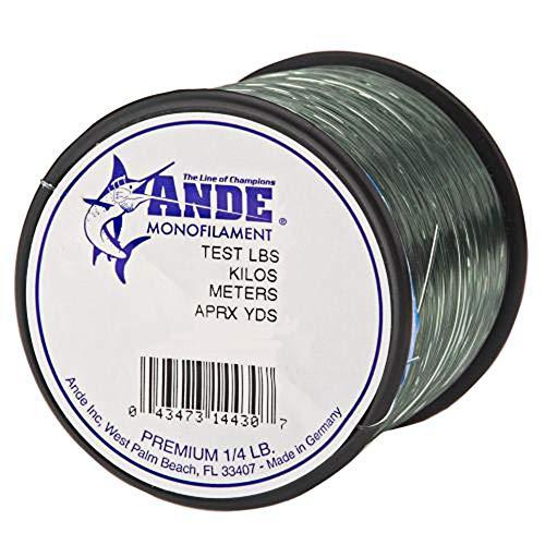 Ande A14-12G Premium Monofilament Fishing Line, 1/4-Pound Spool, 12-Pound Test, Green Finish