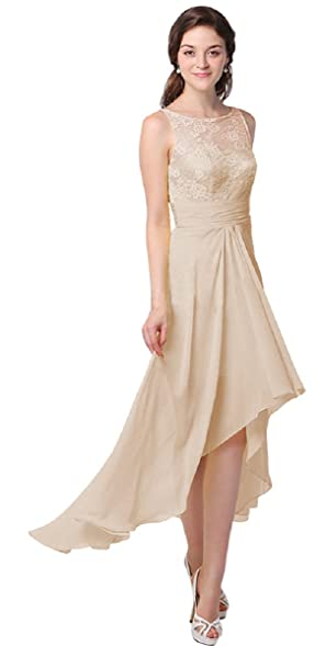 LOVEBEAUTY Womens Hi-Lo Party Evening Homecoming Dresses Champagne ...