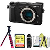 Panasonic Lumix DMC-GX85 Mirrorless Micro Four Thirds Digital Camera (Body Only, Black) + Pixi Starter Bundle