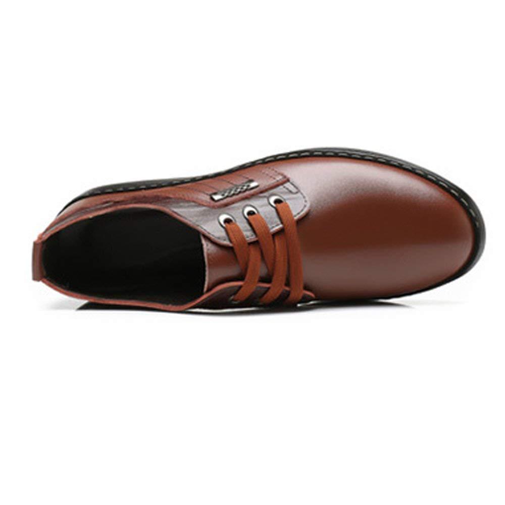 FuweiEncore 2018 Herren Casual Business Schuhe Echtes Matte Echtes Schuhe Leder Oberen Lace up Breathed Ausgekleidet Oxfords (Farbe   Schwarz, Größe   43 EU) (Farbe   Braun, Größe   40 EU) 447bfd