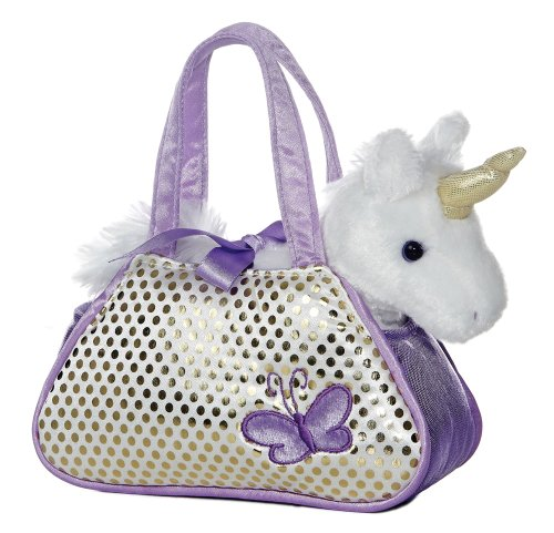 "Aurora Unicorn Fancy Pals Purse with 8"" Unicorn"