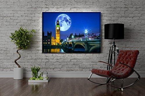 Leuchtbild-LED-Leinwandbild-mit-Farbwechsel-Big-Ben-vor-Vollmond-in-London-MADE-IN-GERMANY