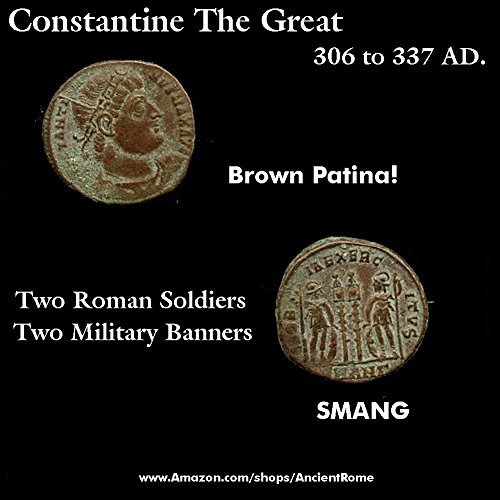 330 SY CONSTANTINE THE GREAT 330 AD. Glory to the Army. Ancient Roman Empire Coin. Follis Very Fine