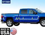 side molding for 2014 silverado - Made In USA!! TYGER For 2014-2015 Chevy Silverado Crew Cab (Only for 8' Bed) Body Side Molding Trim Bed Below Body Line 1 1/4'' Wide 12PC Overlay