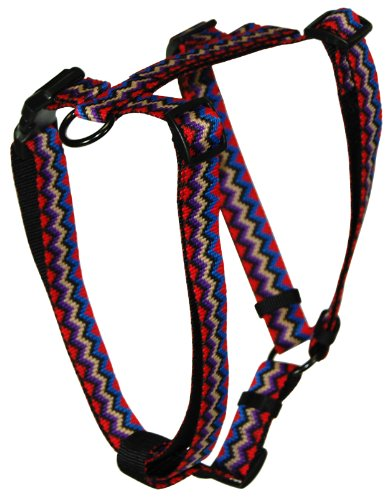 Hamilton Adjustable Comfort Nylon Dog Harness, Black Multi-Colored Weave Pattern, 1″ x 30-40″, My Pet Supplies