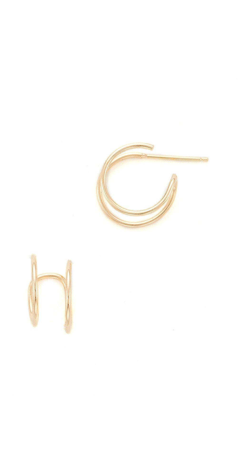 Zoe Chicco 14k Gold Double Huggie Earrings