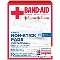 Band-Aid Brand Adhesive Bandages, Large Non-Stick Pads for Minor Cuts, 10 3-Inch x 4-Inch Pads (Pack of 3)