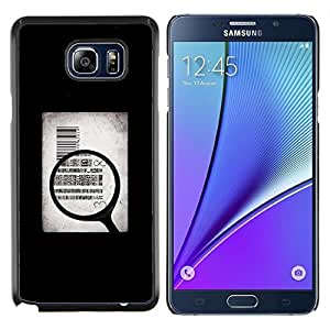 "Planetar® ( Dinero Cuerpo Vender simbólico Cita Arte"" ) Samsung Galaxy Note5 / N920 Fundas Cover Cubre Hard Case Cover"
