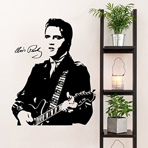 - Elvis Presley and Guitar Silhouette Vinyl Wall Decal Sticker Graphic