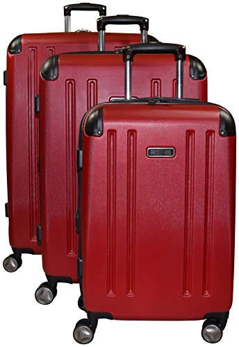 Kenneth Cole Reaction 8 Wheelin Expandable Luggage Spinner Wheeled Suitcase, 3 Pc Set , 29, 25 & 20-inch (Red) from Kenneth Cole