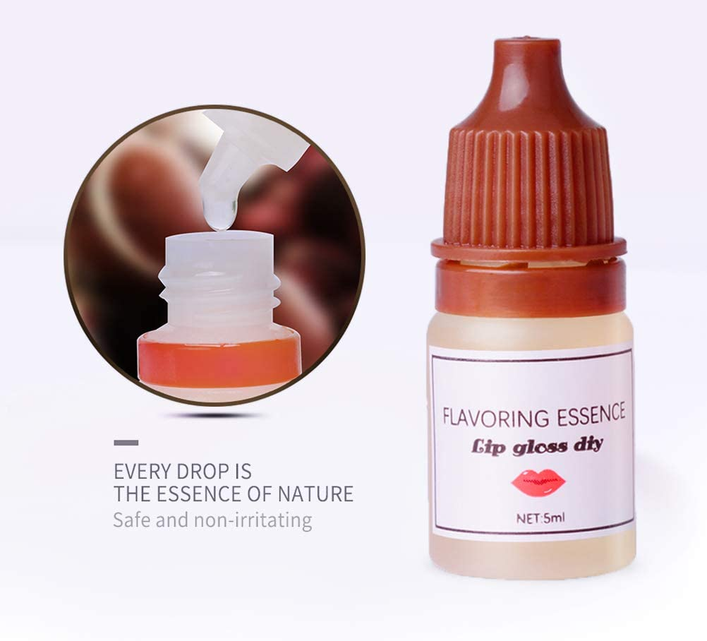 Mlamat Flavoring Essence DIY Lip Gloss Drops,6 Botellas 5ml Esencia Saborizante DIY Lip Gloss Gotas para lápiz labial