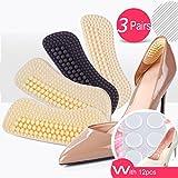 Heel Cushion Inserts,Heel Pads,Too Big Inserts Shoes Cushion 4D(3pairs) Gel Spot(12pcs) high Heel Inserts (Black)