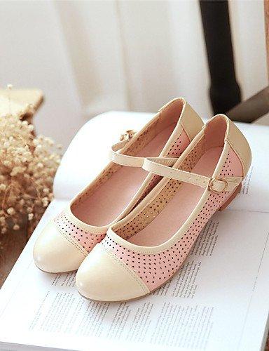 Blanc-us10.5   eu42   uk8.5   cn43 PDX femme Chaussures en similicuir Talon Plat Bout Rond appartements extérieur robe décontracté Bleu rose blanc