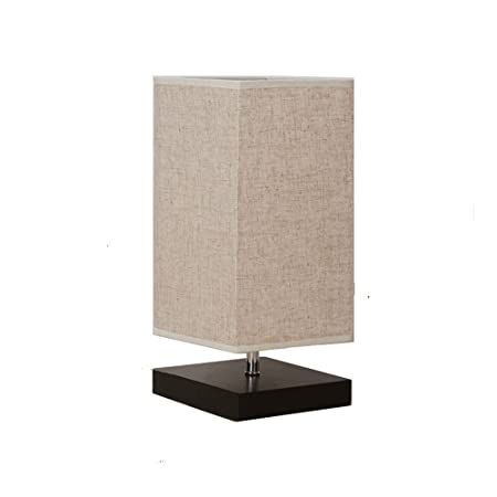 DFMD Lámparas de Mesa de Madera Maciza LED, Moderna Minimalista ...