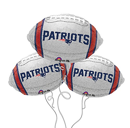 New England Patriots NFL Football Mylar Balloon - 3 Pack