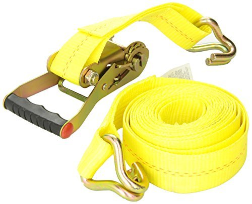 16' Ratcheting (Keeper 04616 Heavy Duty 2 by 16' Ratcheting Tie Down, 10,000 lbs Rated Capacity with J-Hooks by Keeper)