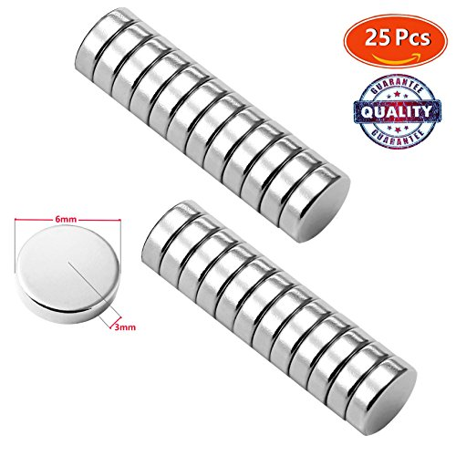Premium Pack 25 Brushed Nickel Magnetic Push Pins, Bonus Magnet - Fridge Magnets, Office Magnets, Dry Erase Board Magnets, Refrigerator Magnets, Whiteboard, Map, Magnetic Pins, Pawn - Center Cartagena Usa