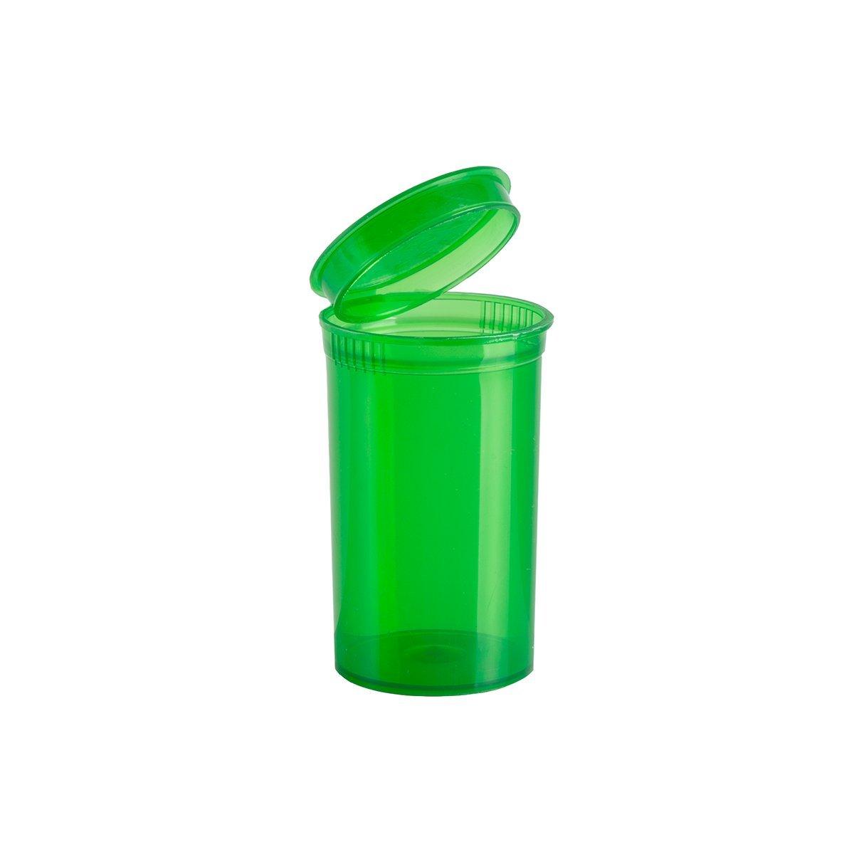 Premium Vials - 225 pcs, 19 Dram Green Pop Top Containers Full Cases, Best Medical Marijuana Container Pop Top Bottles Pop Top Vial. (19 Dram, Green)