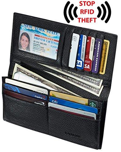 Unisex Soft Leather Wallet (Black) - 8