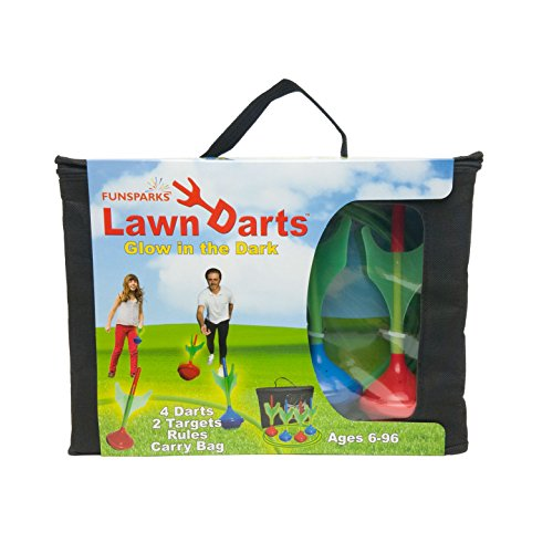 Funsparks Lawn Darts - Glow in The Dark Set - Outdoor Backyard Toy by Funsparks