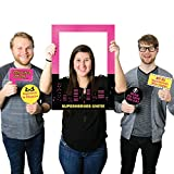 Big Dot of Happiness BAM! Girl Superhero - Birthday Party or Baby Shower Selfie Photo Booth Picture Frame & Props - Printed on Sturdy Material