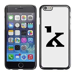 """For Apple Iphone 6 Plus / 6S Plus ( 5.5 ) Case , K de la letra inicial Gris Negro"""" - Diseño Patrón Teléfono Caso Cubierta Case Bumper Duro Protección Case Cover Funda"""