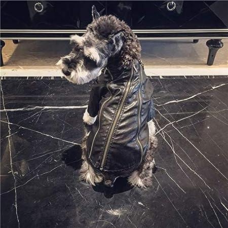 Trajes del perro for los animales domésticos, camisetas, chaqueta de cuero de la motocicleta con la cremallera, estilo punky invierno del animal doméstico de los puentes for Gatos Perros Pequeños Pequ