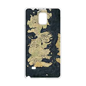 Map Game of Thrones Samsung Galaxy Note 4 Cell Phone Case White DIY present pjz003_6478884