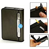 Digitru - 2 in 1 Automatic Cigarette Holder Dispenser Case and Refillabe Gas Lighter