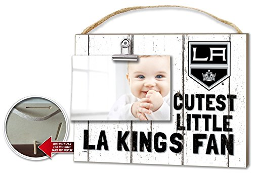 "KH Sports Fan 10""x8"" Los Angeles Kings Clip It Weathered Baby Logo NHL Photo Frame"