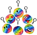 3'' RAINBOW EMOTICON CLIP ON, Case of 144