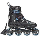 Rollerblade Macroblade 80 ABT Men's Adult Fitness Inline Skate, Black and Blue, Performance Inline Skates