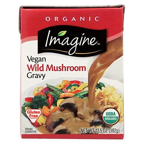 Imagine Foods Organic Vegan Wild Mushroom Gravy, 13.5 Fluid Ounce - 12 per case. (Best Vegan Mushroom Gravy)