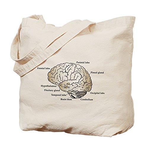 CafePress–Cervello sezione–Borsa di tela naturale, panno borsa per la spesa