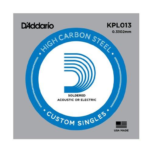 D'Addario KPL013 Soldered Twist Reinforced Single String, .013