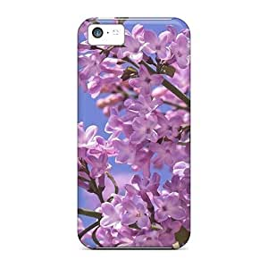5c Scratch-proof Protection Cases Covers For Iphone/ Hot Beautiful Violet Flowers Phone Cases