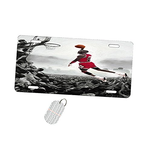 Jordan Basketball Dunk Painting - Car Tag License Plate by New Vibe (Jordan License Plate)