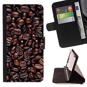 Momo Phone Case / Flip Funda de Cuero Case Cover - Granos de café;;;;;;;; - Sony Xperia M5