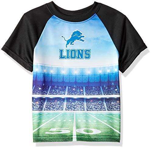 NFL Detroit Lions Unisex Short-Sleeve Tee, Black, 3T