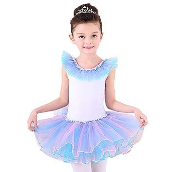 AJJDL Niñas Danza Leotardos de Ballet para Trajes de Baile ...