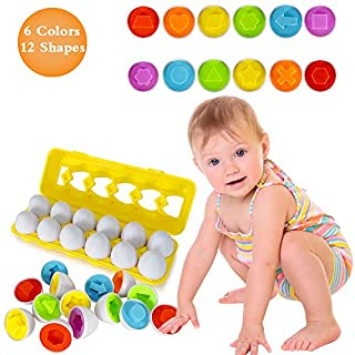 Toys for 1 2 3+ Year Olds-Easter Color Matching Egg Set, montessori toys for toddlers Educational Color & Number Recognition Skills Learning Toy Gifts For Girls kids Toddlers Age 1 2 3 4 Easter Eggs