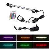 Smiful LED Aquarium Light, Fish Tank Light Submersible Underwater Crystal Glass LEDs Lights 11 Inches (11''-Colorful)