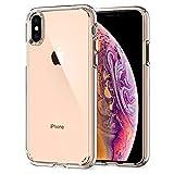 Spigen Funda iPhone XS, Funda iPhone X, Ultra Hybrid - Tecnología de amortiguación de Aire y protección híbrida contra caídas para Apple iPhone XS (2018) / iPhone X (2017) - Crystal Clear
