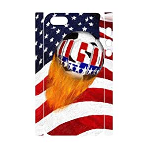 Iphone 5,5S 3D Custom Phone Back Case with Soccer Ball Image