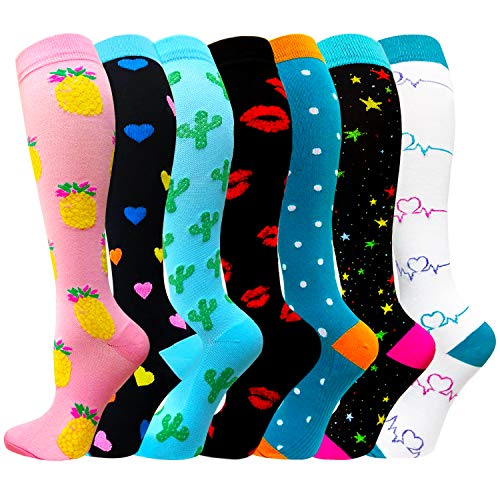 Compression Socks for Women & Men(1/3/7/8 PACK) - Best for Running,Sport,Nurse,Travel,Cycling-20-30mmHg