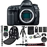 "Canon EOS 5D Mark IV DSLR Camera Body + 64GB SDXC Card + Pro 72"" Monopod + SLR Backpack Bag + 50'' Tripod + SD Card Reader & Premium Accessory Bundle - International Version"