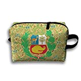 Novelty Peru Coat Of Arms Travel Multifunction Toiletry Organizers Makeup Pouch Cosmetic Bag Business Bag For Women Girls
