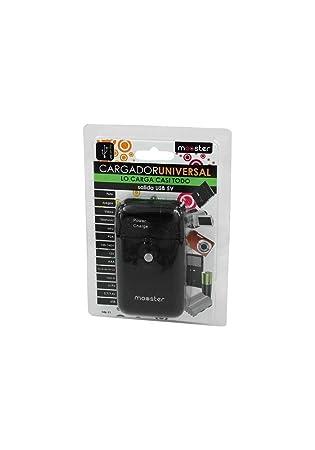 CARGADOR UNIVERSAL BATERIAS (146-11) 12/220V MOOSTER USB NEGRO