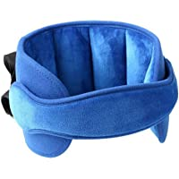 GOHIGH Kids Head Support for Car Seats, Adjustable Comfortable Sleeping Headrest Protective Neck Pillow Travel Accessories for Child Children Toddler Infant and Adults, Blue